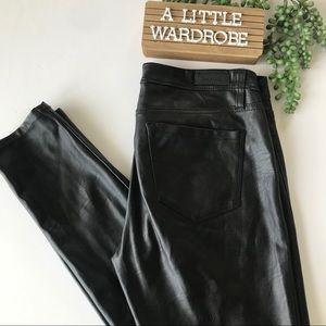 Blank NYC Black Vegan Leather Mid Rise Skinny